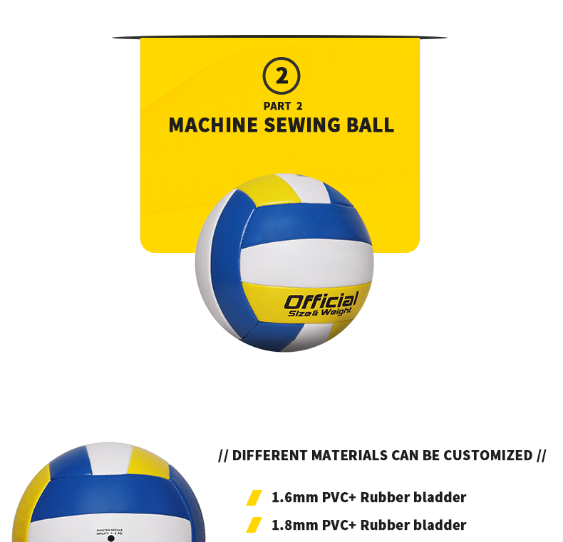 Gravim custom pvc gelamineerd volleybal voor training
