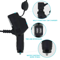 New product factory price dual port car charger with multifuncition port