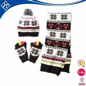 8e17a64704d custom knit hat mitten scarf set
