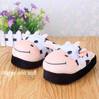plush house slipper/kids plush slipprer/plush crow shaped slipper