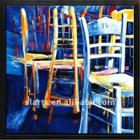 Colourful chairs abstract painting
