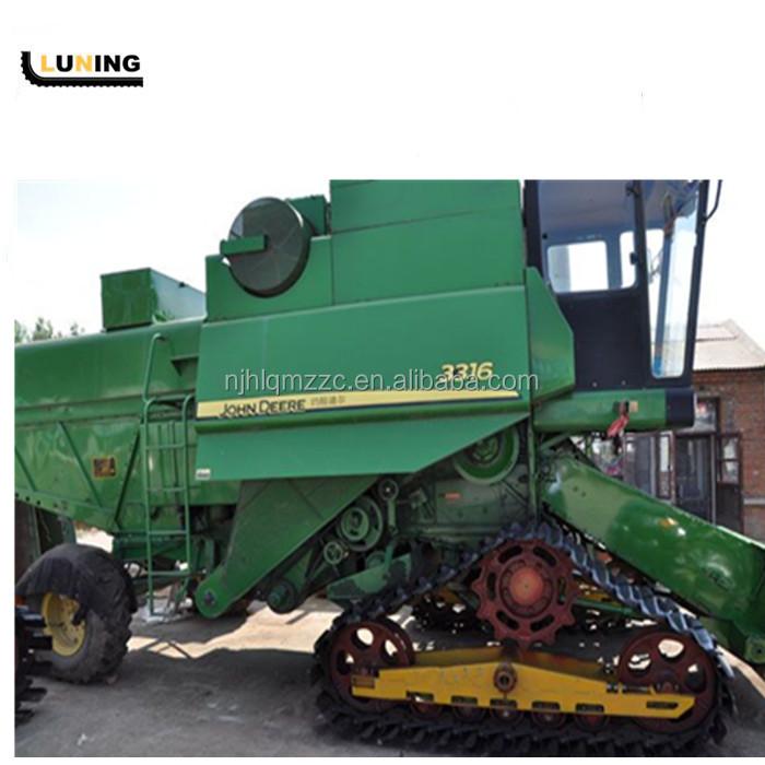 Metal track chassis for John Deere combine harvester