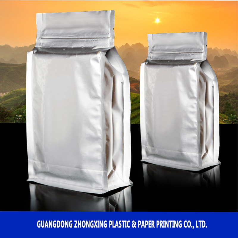 Tea Bag With Zipper Stand Up Plastic Packaging Aluminum Foil Quad ...