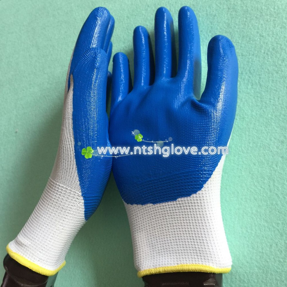 13G blue nitrile gloves gloves rubber nitirle work glove High Quality factory price