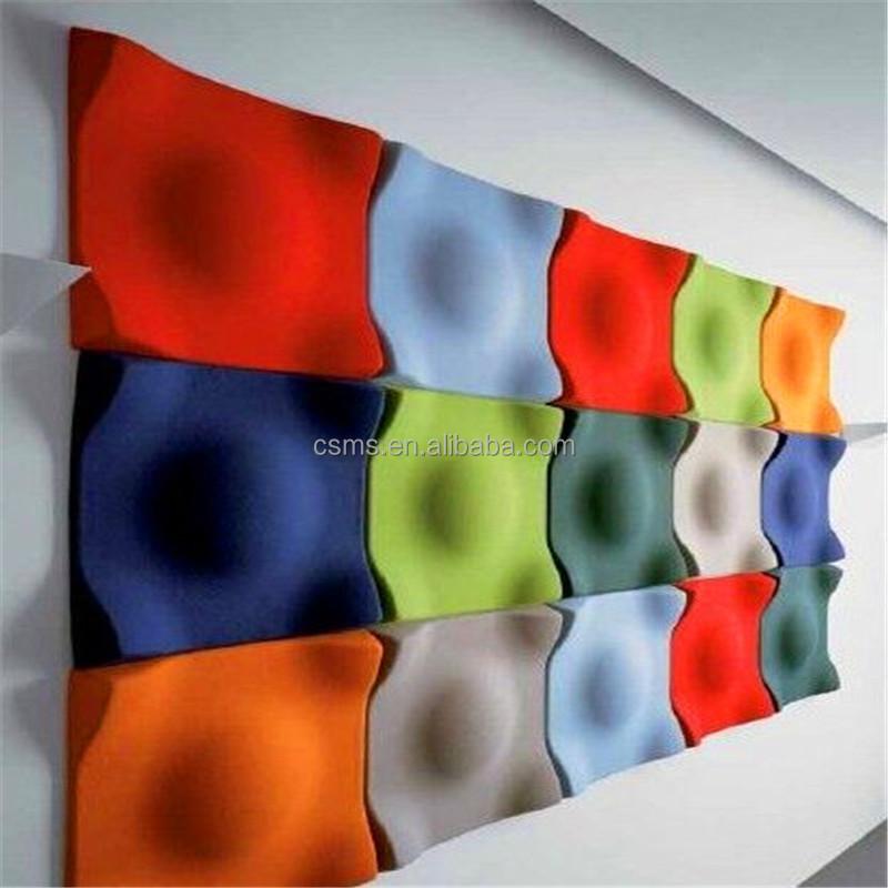 Usine pas cher acoustique 3d mur panneau de d coration panneaux insonorisants - Panneau mural 3d pas cher ...