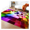 3D Logo Print Washable Anti Slip Bathroom rugs Decorative Bath Mat Living Room BedRoom Carpet cotton rugs flooring carpet