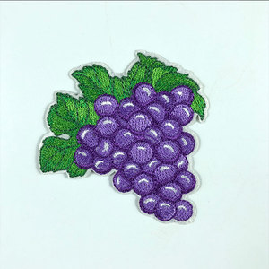 Purple Grape Embroidery Sewing or Ironing Summer Fruit Styling Applique Patch