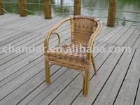patio aluminum frame bamboo like rattan chair