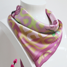 Women 100% silk scarves and shawls with floral design