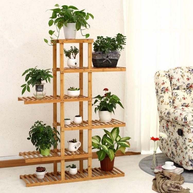 support en bois soutien de bambou support pot de fleur. Black Bedroom Furniture Sets. Home Design Ideas