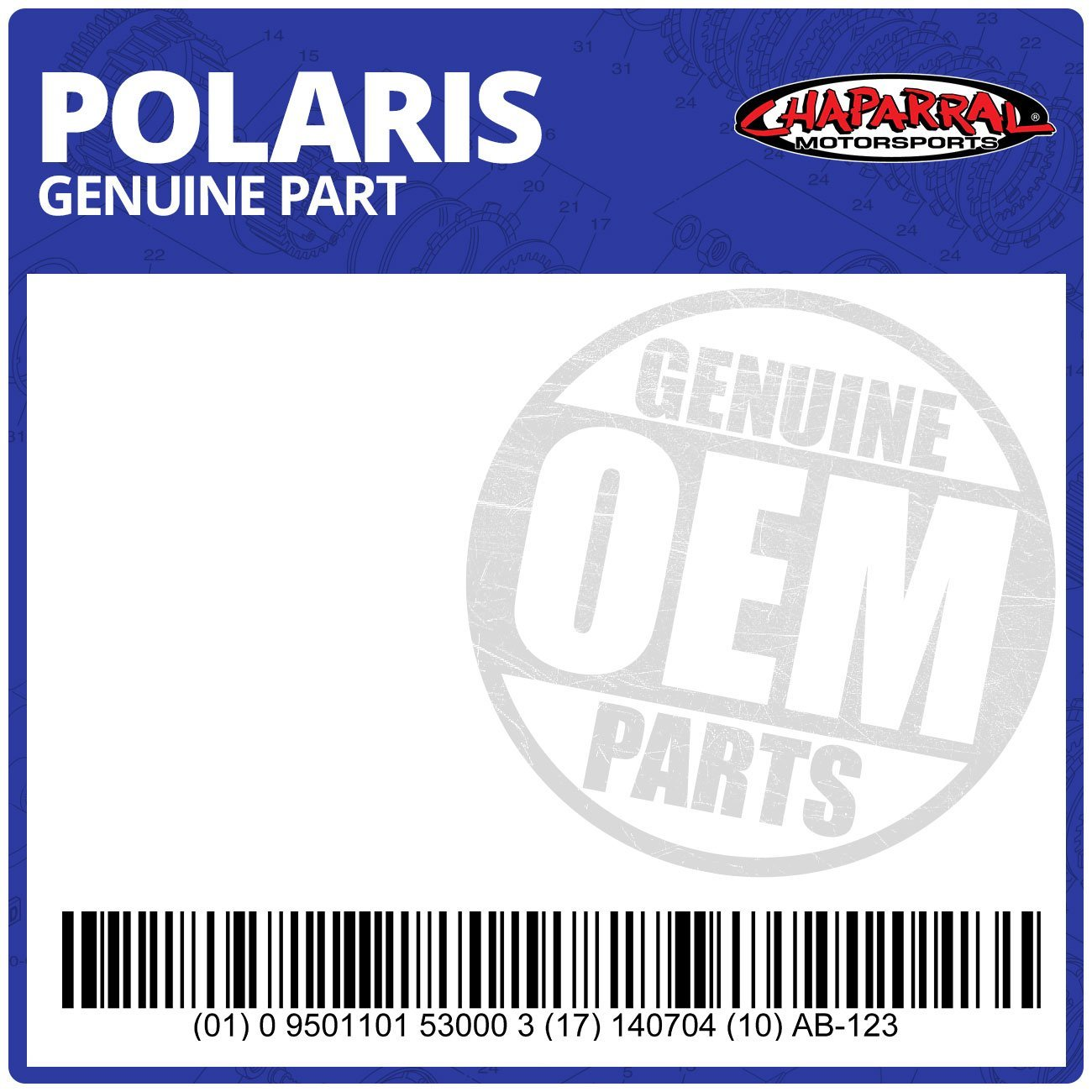 Polaris Gasket- Tensioner, Chain Part #0453438 Fits: Sportsman, Predator, Outlaw
