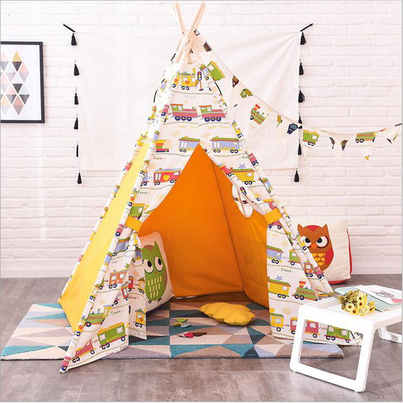 DM Wholesale 368 cotton toy tents house Childrens Play Tipi Room Decor photography props teepee play tent