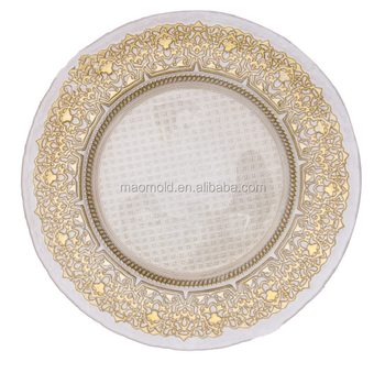 Glass Plate Wholesale Dinner Plates Clear Glass Plate With Gold Buy Cheap B