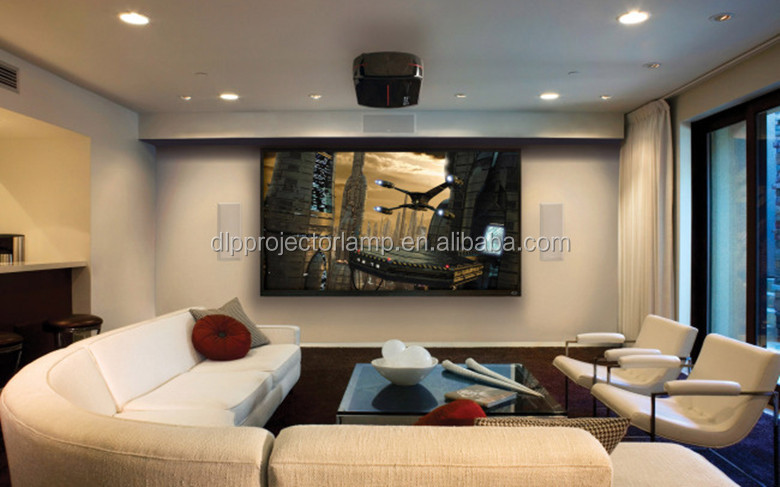 Glass Bead Projection Screen Wall Mounted Motorized Projector ...