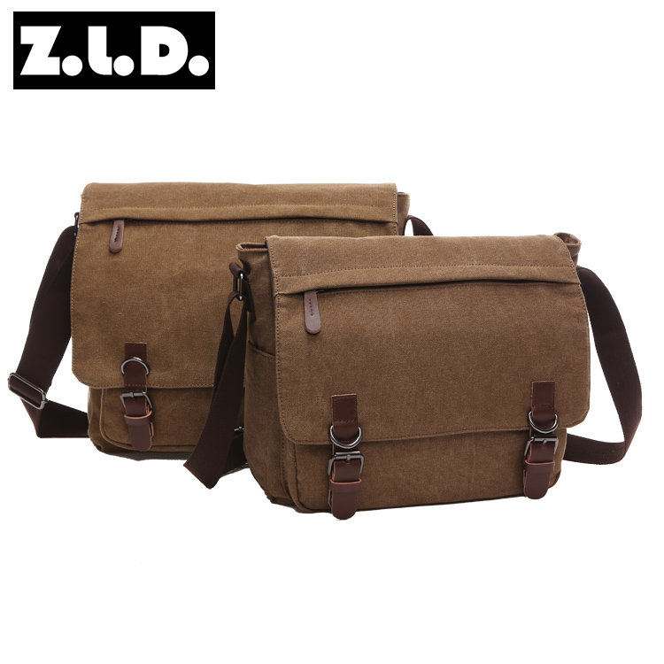 solid color canvas shoulder bag mens messenger bag laptop messenger bag