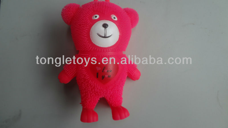 puffer bear toy ,red heart toy bear ,cute bear toy