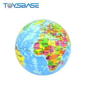2018 Hot Products Children Learning Geography Knowledge Globe Toy 5 Inch Pu Foam Ball