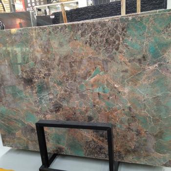 Newstar Vert Fonce Turquoise Onyx Granit Dalle Interieure Salle De