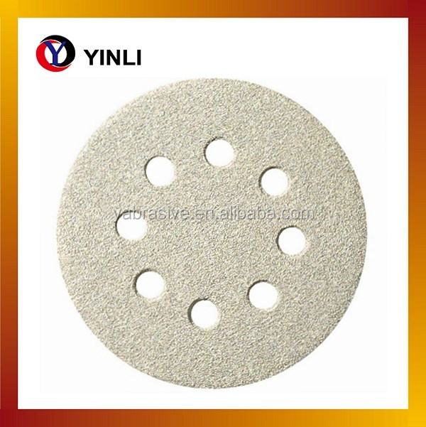 125mm hook and loop round sanding discs sandpaper