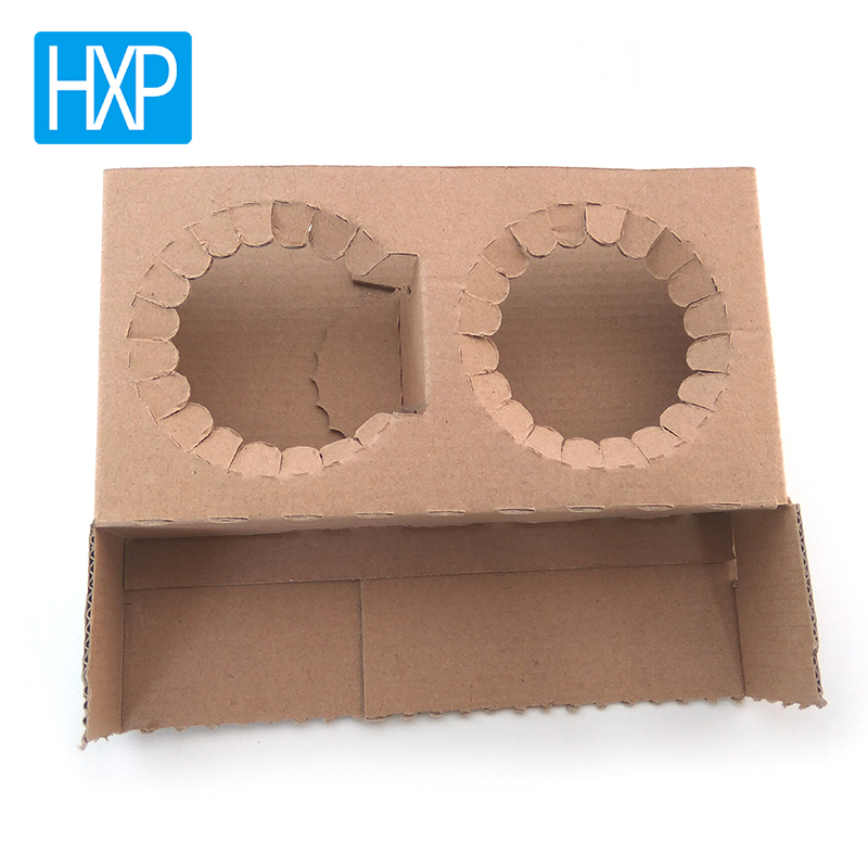 Customized shape cardboard coffee cup holder tray packing box