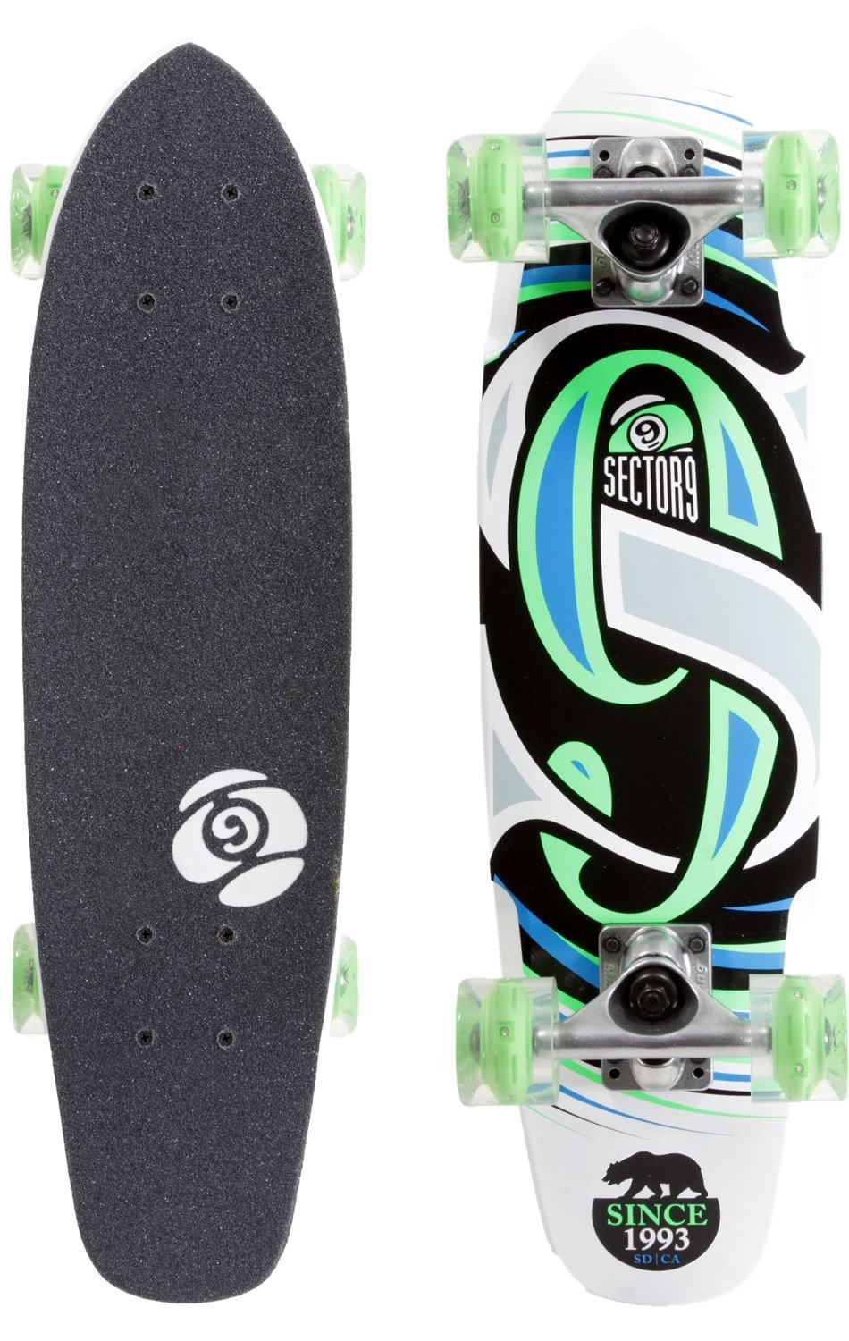 """Get Quotations · Steady 25"""" Cruiser Skateboard Complete with Sunset LED  Wheels 0bde6fcb0ad"""