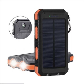 NEW Waterproof Solar Power Bank 20000mah Dual USB Li-Polymer Solar Battery Charger Travel Powerbank for All Phone