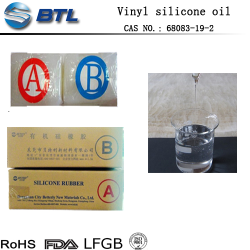 500cs vinyl terminated silicone oil / rubber raw materials