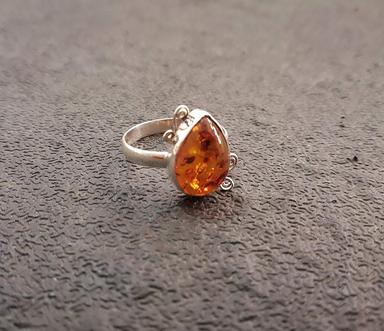 Amber Ring, 925 Sterling Silver, Healing Crystal, Hippie Ring, Bezel RIng, Girl Choice Ring, Attractive Ring, Yoga Ring, Charming Ring, Bride Ring, Boho Ring, Southwestern Ring, US All Size Ring