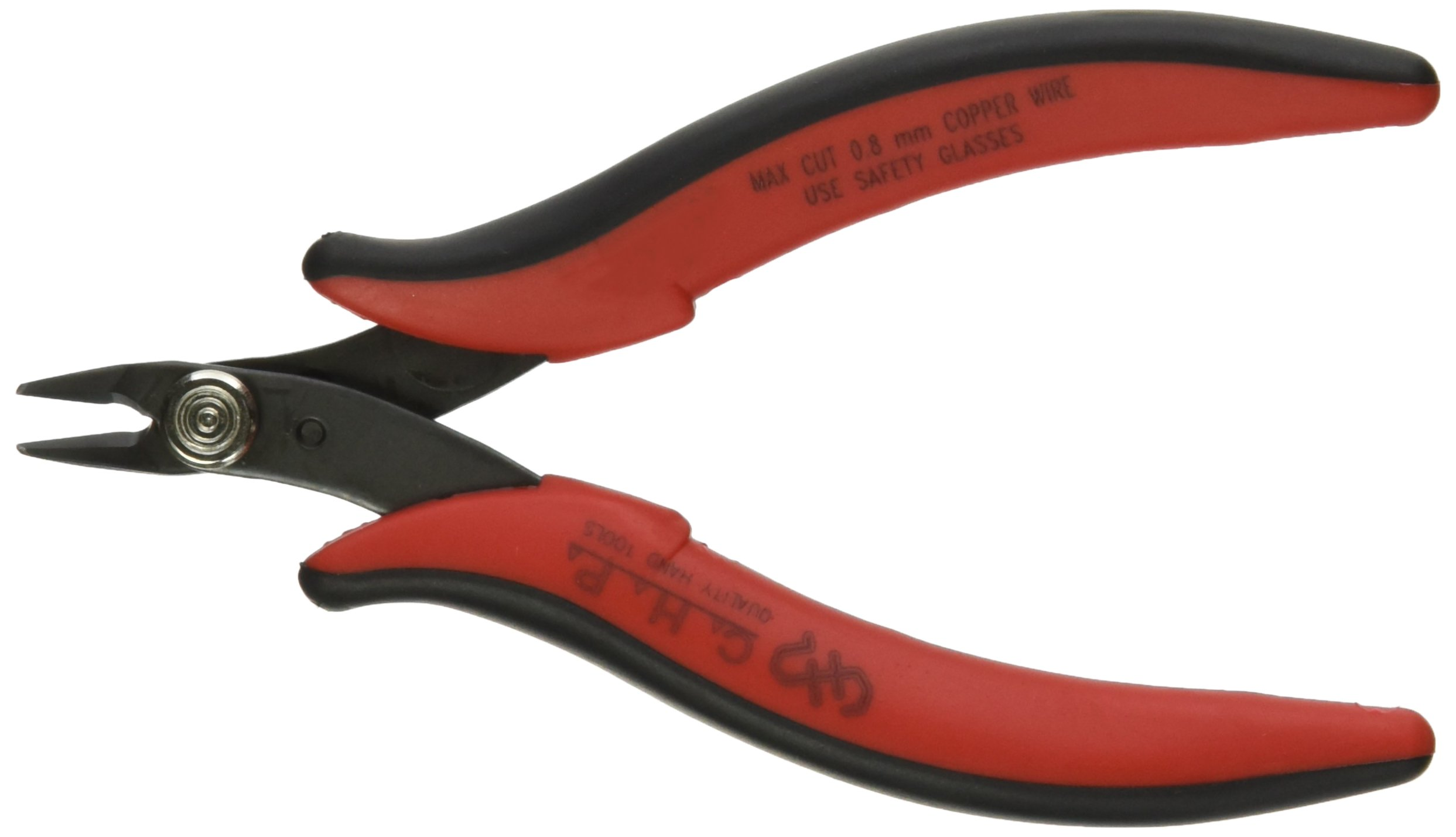 Hakko CHP TR-20-M Micro Soft Wire Cutter, Flush-cut, 2.0mm Hardened Carbon Steel Construction, 21-Degree Angled Jaw, 8mm Jaw Length, 20 Gauge Maximum Cutting Capacity