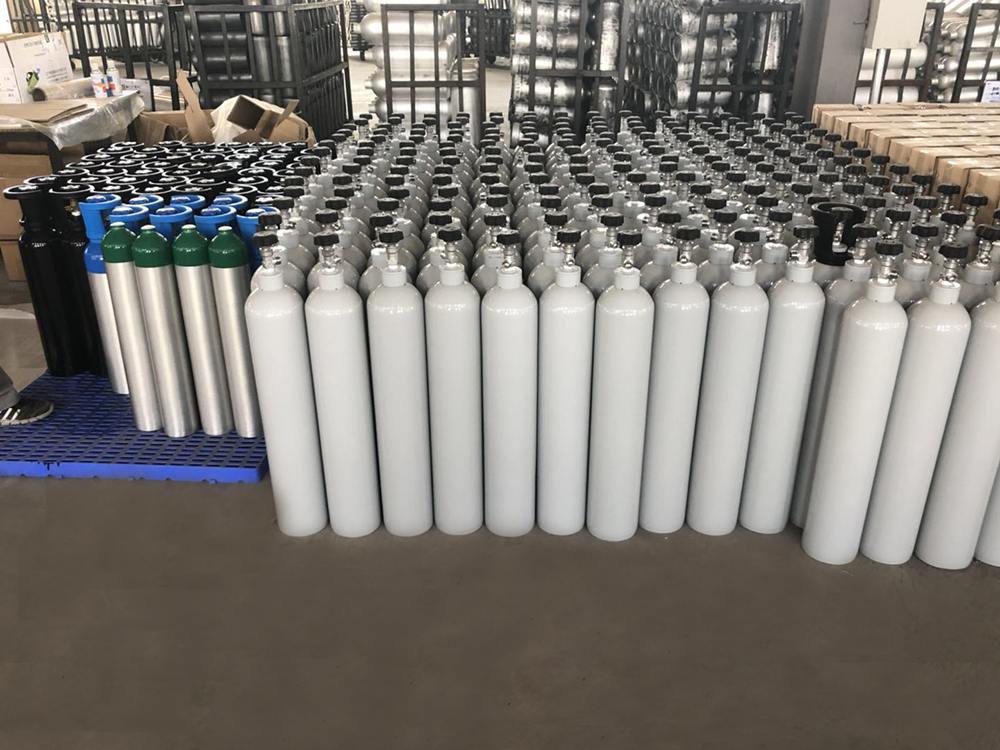 China supplier high pressure small aluminum nitrogen gas cylinder for sale