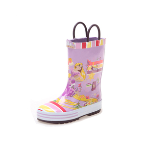 High quality cheap girls printed wellies waterproof rubber rain boots for kids