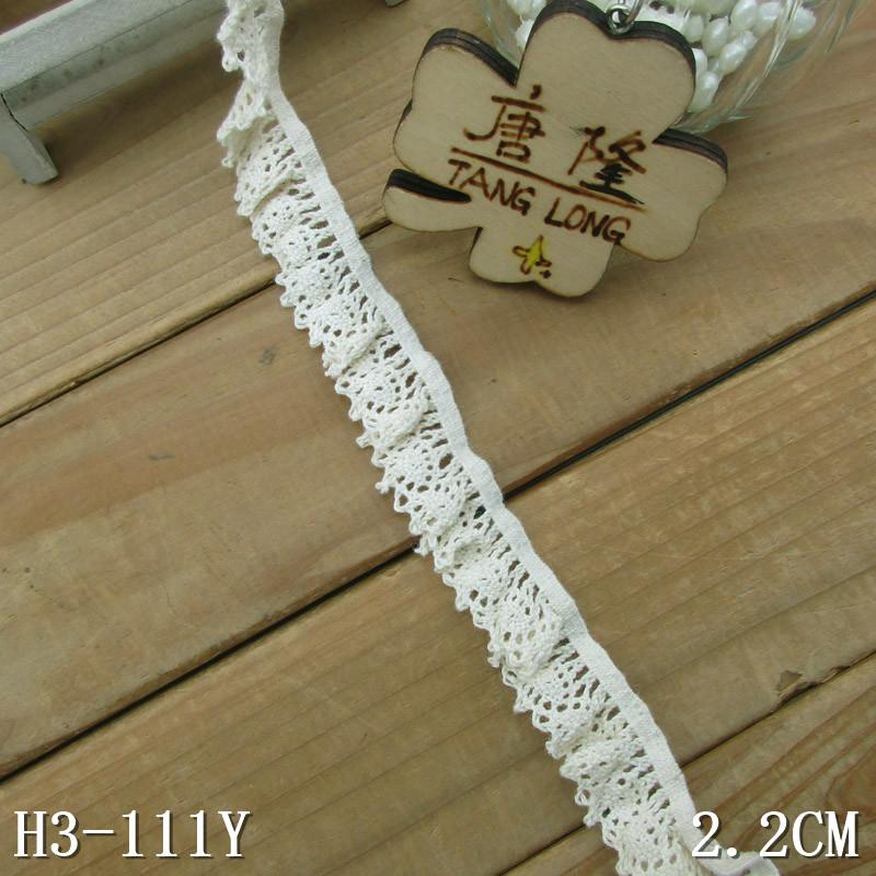"White Cotton Ruffle Lace 3.8cm  1.5/""  Crafts//Costume//Larp//Sewing"