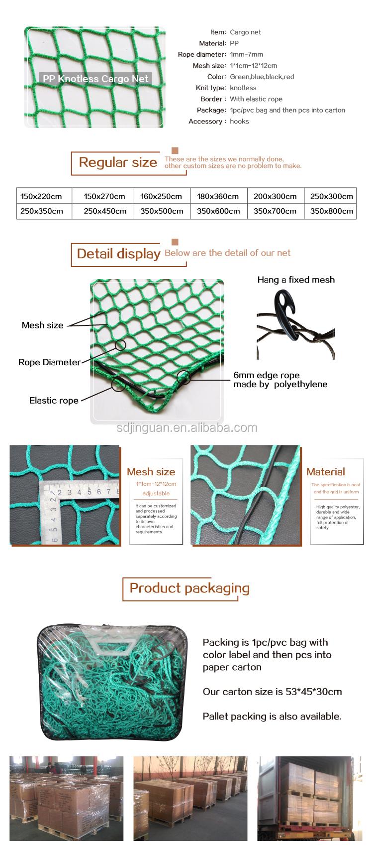 Universele PP knooploos auto cargo trailer netto bouw vangnet