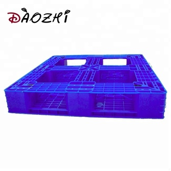 double ways black reinforced plastic warehouse pallet with steel rods