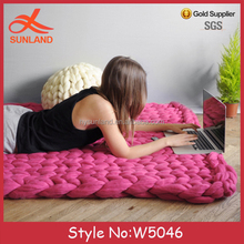 W5046 New Fashion Premium Chunky Giant Chunky Knit Blanket