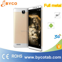 New product 5.5inch Android 3G 5.0MP camera gold mobile phone with metal shell