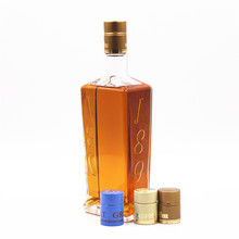 Crystal flint side reliëf logo brandy geesten <span class=keywords><strong>whisky</strong></span> whiskey fles 750 ml