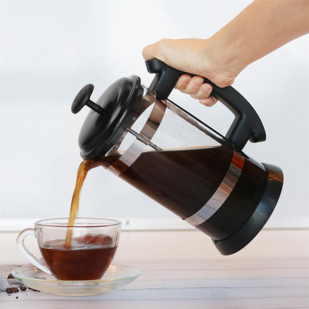 Кофе чайник с фильтрами из нержавеющей стали плунжерный стеклянный инструмент для Moring кофе can CSV(Китай)