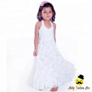 bf030433dd5aa Baby Girl White Lace Party Princess Evening Wedding Dress - Buy ...