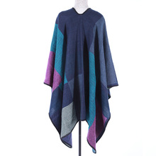 2017 High quality winter plaid pashmina shawls and scarves wraps warm design ladies knited pashmina ponchos and capes scarf