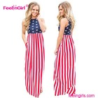 Wholesale American Flag Maxi Formal Elegant Dresses For Women