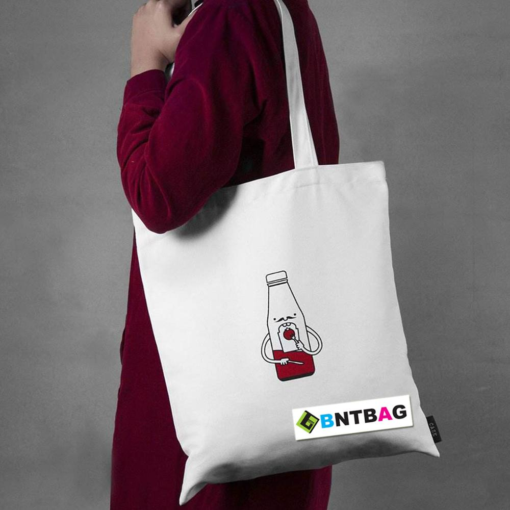 Promotional Custom Logo Printed Organic white Calico Cotton Bag Canvas Tote Bag