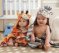 Cute Cosplay animal hooding baby hooded blanket custom with hooded