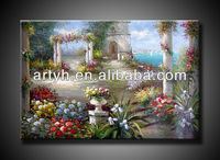 High Quality Oil Painting of beautiful garden