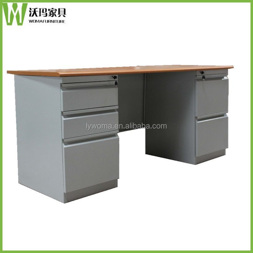 wooden top office desk legs metal,new design steel office table