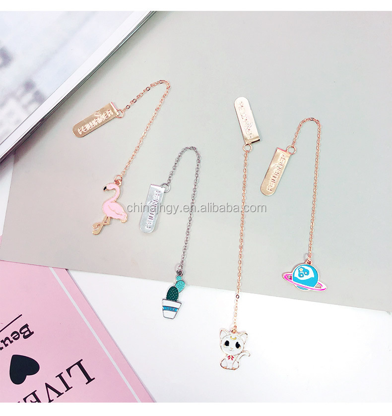 Custom promotion gift metal pendant souvenir bookmark