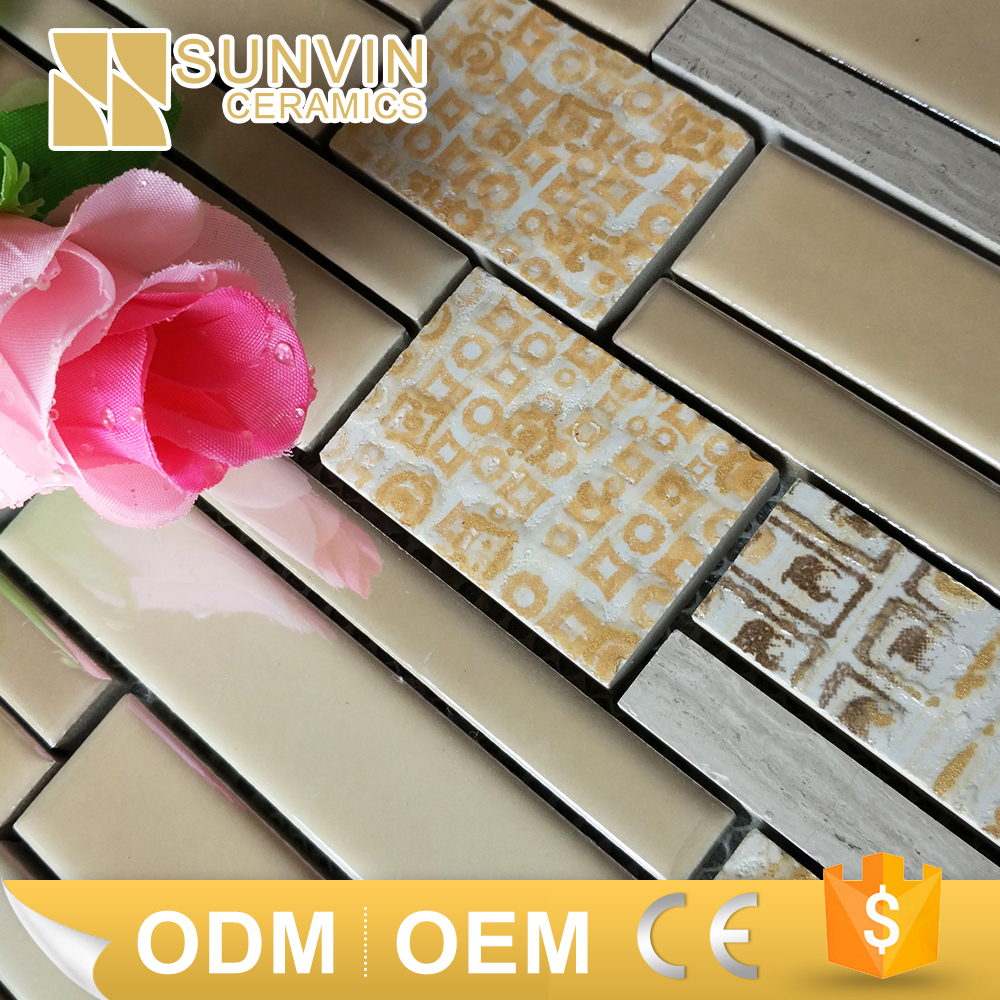 natural marble stone mixed ceramic tile mosaic molds