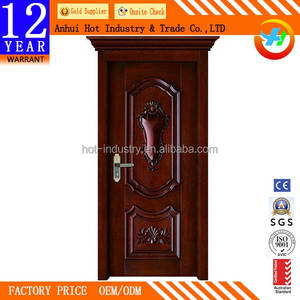 China Classical Elegant Interior PVC Door Moisture-proof Waterproof PVC Bathroom Door Price India Used For Hotel Room Door