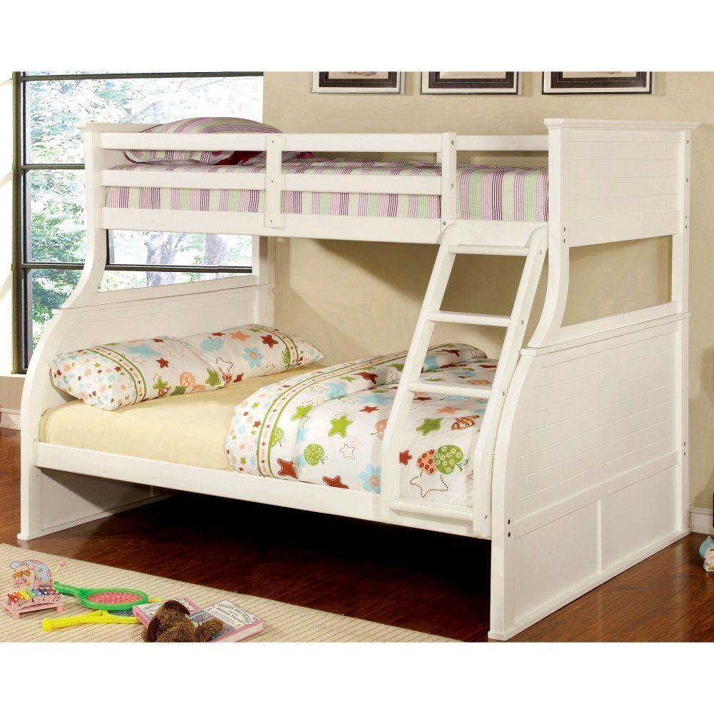 Furniture of America Fairbanks Twin Over Full Bunk Bed