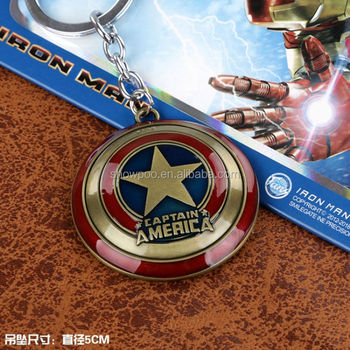 Fashion Anime Bronze The Avengers Key Chain Wholesale Fashion Cos New Hot  Captain America Key Chain - Buy Customized Key Chains The Avengers Key  Chain